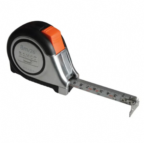 Bahco MTS-8-25-E Reversible Magnetic Tip Auto Pocket Tape Measure 8m/26ft
